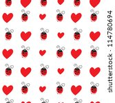 seamless pattern with ladybird... | Shutterstock .eps vector #114780694