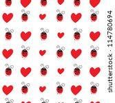 seamless pattern with ladybird...   Shutterstock .eps vector #114780694