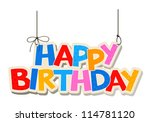 happy birthday greetings | Shutterstock .eps vector #114781120
