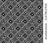 seamless pattern. black and... | Shutterstock . vector #1147811933