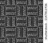 seamless pattern. black and... | Shutterstock . vector #1147811936