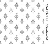 hand drawn seamless pattern ... | Shutterstock . vector #1147811939