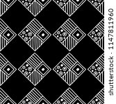 seamless pattern. black and... | Shutterstock . vector #1147811960
