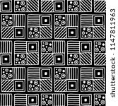 seamless pattern. black and... | Shutterstock . vector #1147811963