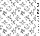 hand drawn seamless pattern ... | Shutterstock . vector #1147811969