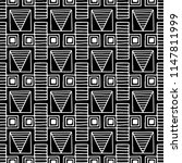 seamless pattern. black and... | Shutterstock . vector #1147811999