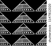 seamless pattern. black and... | Shutterstock . vector #1147812020