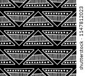 seamless pattern. black and... | Shutterstock . vector #1147812023