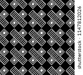 seamless pattern. black and... | Shutterstock . vector #1147812026