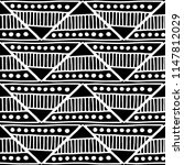 seamless pattern. black and... | Shutterstock . vector #1147812029
