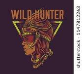 wild hunter illustration | Shutterstock .eps vector #1147812263