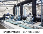 ventilation system pipes of big ... | Shutterstock . vector #1147818200
