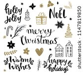 set of christmas design... | Shutterstock .eps vector #1147819850