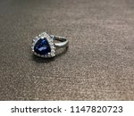 sapphire ring with diamond in... | Shutterstock . vector #1147820723