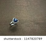 sapphire ring with diamond in... | Shutterstock . vector #1147820789