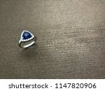 sapphire ring with diamond in... | Shutterstock . vector #1147820906