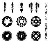 motorcycle parts. suspension...   Shutterstock .eps vector #1147829750