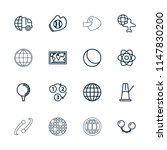 sphere icon. collection of 16... | Shutterstock .eps vector #1147830200