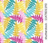 fern frond herbs  tropical... | Shutterstock .eps vector #1147831193