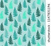 fern frond herbs  tropical... | Shutterstock .eps vector #1147831196