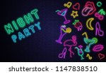 night party. textured...   Shutterstock .eps vector #1147838510