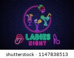 ladies night. textured... | Shutterstock .eps vector #1147838513