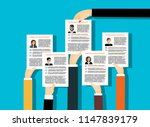 applying for job  giving cv ... | Shutterstock .eps vector #1147839179