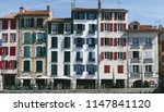 typicals facades of bayonne's... | Shutterstock . vector #1147841120