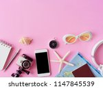 top view travel concept with... | Shutterstock . vector #1147845539