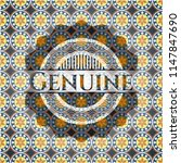 genuine arabesque emblem... | Shutterstock .eps vector #1147847690