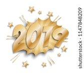 numbers 2019 in retro comic...   Shutterstock .eps vector #1147848209