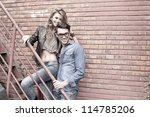 sexy and fashionable couple... | Shutterstock . vector #114785206