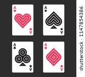 playing card aces in modern...