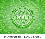 urgency green emblem with... | Shutterstock .eps vector #1147857050
