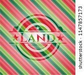 land christmas badge background. | Shutterstock .eps vector #1147857173