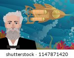 great science fiction writer... | Shutterstock .eps vector #1147871420