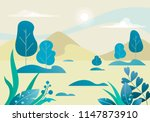 fantasy turquoise forest in a... | Shutterstock .eps vector #1147873910