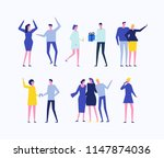 party   flat design style set... | Shutterstock . vector #1147874036