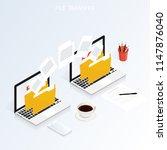 isometric computer file...   Shutterstock .eps vector #1147876040