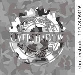 overshadow on grey camo pattern | Shutterstock .eps vector #1147879319