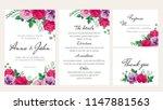 elegantl floral wedding... | Shutterstock .eps vector #1147881563