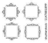 vintage vector swirl frame set | Shutterstock .eps vector #1147881899
