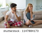 unhappy married couple on verge ... | Shutterstock . vector #1147884173