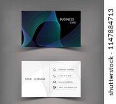 modern business card template... | Shutterstock .eps vector #1147884713