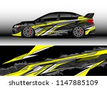 car wrap design vector  truck... | Shutterstock .eps vector #1147885109