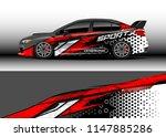 car wrap design vector  truck...   Shutterstock .eps vector #1147885286