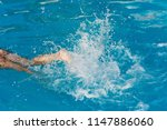 water splash from legs | Shutterstock . vector #1147886060