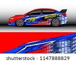 car wrap design vector  truck...   Shutterstock .eps vector #1147888829