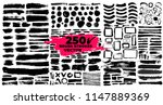 set of brush strokes.... | Shutterstock .eps vector #1147889369