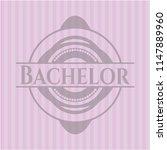 bachelor pink emblem. retro   Shutterstock .eps vector #1147889960